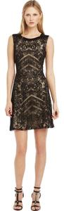 Kenneth Cole Lace Overlay A-line Dress