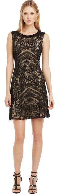 Kenneth Cole Lace Overlay A-line Sleeveless Dress