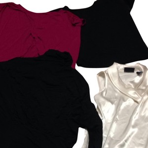 A.N.A. a new approach Top Black, Magenta, Cream