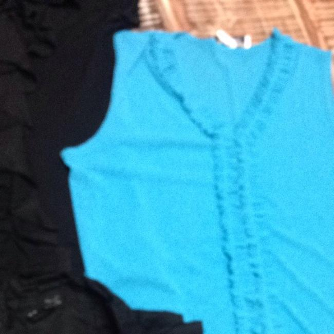 INC International Concepts Top Black And Teal