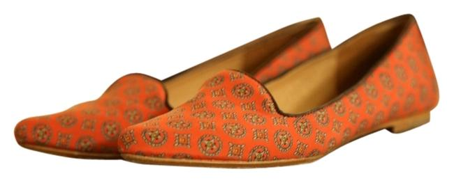 Item - Red Orange and Navy Flats Size US 7 Regular (M, B)