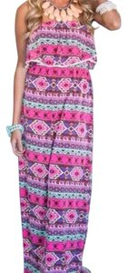 Pink and different colors Maxi Dress by Pink Lilly boutique