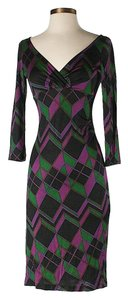 Diane von Furstenberg Silk Argyle Dress