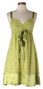 BCBGMAXAZRIA short dress Green Silk Bamboo on Tradesy