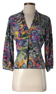 Amanda Uprichard Bright Print Top