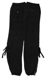 Marciano Silk Cargo Pants Black