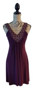 Soprano V-neck Evening Sleeveless Jewel-neckline Embellished Dress