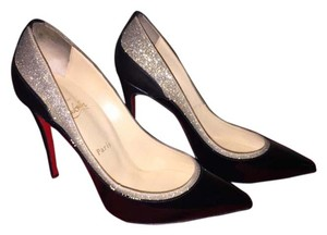 Christian Louboutin Black and silver glitter Pumps