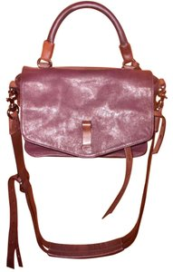 Joy Gryson Adjustable Straps Belted Distressed Leather Cross Body Bag