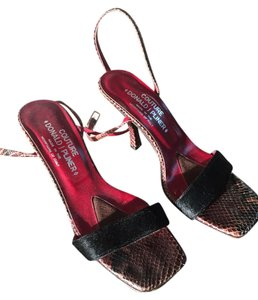 Donald J Pliner Black and Python Sandals