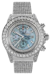 Breitling Breitling A13370 Super Avenger Stainless Steel ICED OUT Watch