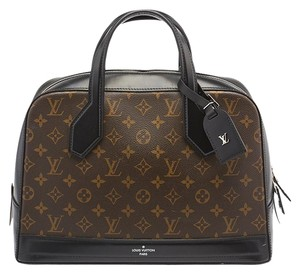 Louis Vuitton Lv Monogram Medium Satchel in Black|Brown