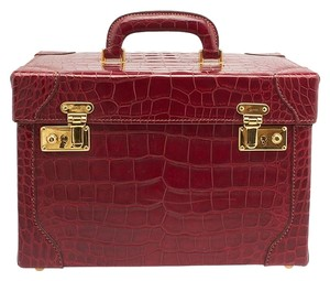 Gucci Gg Trunk Small Travel Red Travel Bag