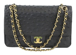 Chanel Classic Ostrich Leather Shoulder Bag