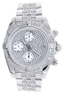 Breitling Breitling A13356 Chronomat Evolution ICED OUT Stainless Steel Watch