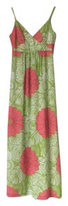 Green/Pink/white - Floral Maxi Dress by Trina Turk