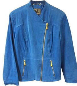 Queen Collection Blue Leather Jacket