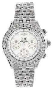 Breitling Breitling A44355 Windrider Crosswinds Stainless Steel ICED OUT Watch