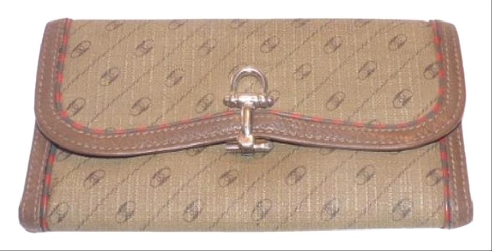 91fbe542273 Vintage Gucci GG leather coated canvas Coi Vintage t
