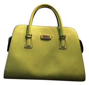 Michael Kors Summer Pop-of-color Leather Satchel in Lime green
