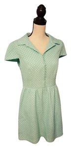 Kensie short dress Green Retro Mod Dot Textured on Tradesy