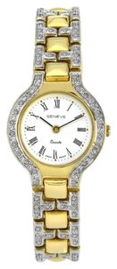 Geneve Geneve 14K Yellow Gold Diamond Ladies Watch