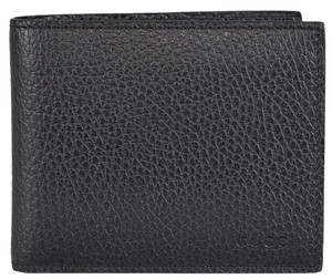Gucci Gucci Men's 260987 Black Textured Leather Embossed Logo Bifold Wallet