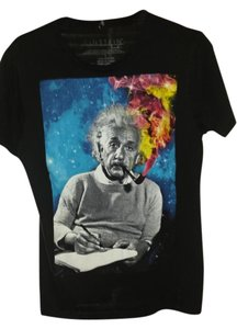 Einstein Graphic Cotton T Shirt Black