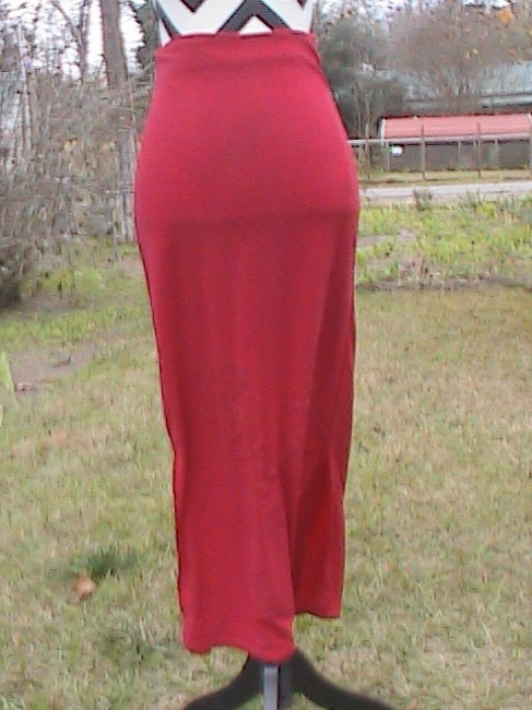 Unknown Floral Bead Maxi Skirt Red