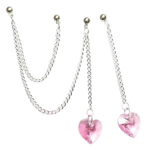 Jujubeads Crystal Heart Triple Piercing Earring