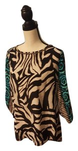 Alberto Makali Tribal Silk Comfort Casual Top Multi