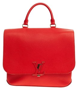 Louis Vuitton Leather Satchel in Red