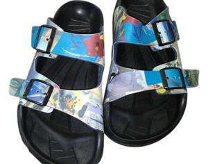 Birkenstock Mens Birki Multi Hawaiian floral Sandals