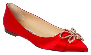 Jimmy Choo Sparkle Diamond Wedding BRAND NEW Red Flats