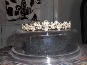 David's Bridal Ven Style-brush Metal and Gold Tiara