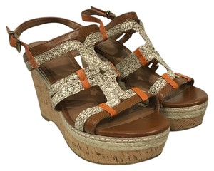 Lucky Brand Brown, Orange, Tan, White, Gray Wedges