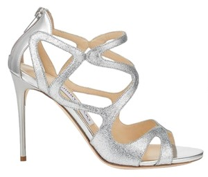 Jimmy Choo Sandal Silver Metallic Glitter Pumps