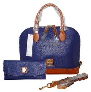 Dooney & Bourke Wallet Blue Satchel in Cobalt