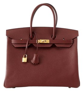 Hermès Birkin 35 Contour Limited Edition Tote in Rouge H Navy