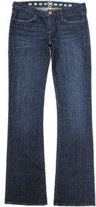 Earnest Sewn Low Rise Orbit Wash Boot Cut Jeans-Medium Wash
