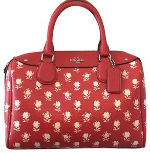 Coach Satchel in Carmine/Multi