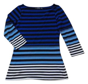 The Limited Striped Top Black, White &Blue