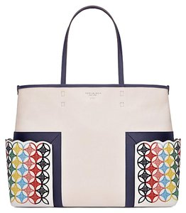 Tory Burch Rainbow Tote in Natural Multi