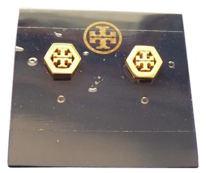 Tory Burch Tory Burch Hex-Logo Pierced Earrings Color: Gold/701 Style#31155532
