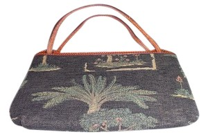 Tommy Bahama Tote in Multi - Navy Blue, Green, Salmon and Yellow