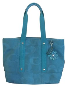 Coach Shoulder Tote in Turquoise