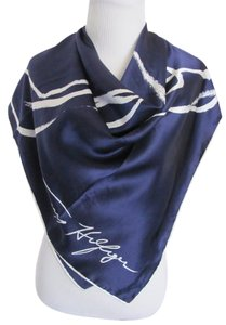 Tommy Hilfiger Wow! Tommy Hilfiger Dark Blue Large 100% Soft Silk Scarf