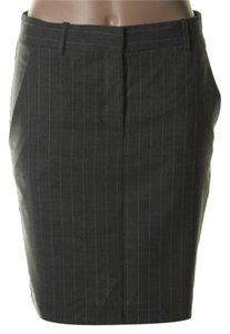 Theory Skirt Grey Charcoal Stripe