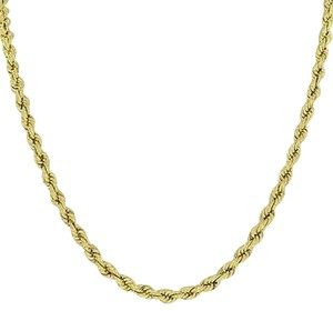 10k Yellow Gold Rope Necklace Mens Ladies Mm Classy Inch Hot Seller