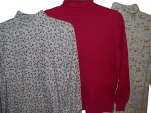 multiple lot set Preppy Sporty Long Sleeve Turtleneck Comfortable Sweater